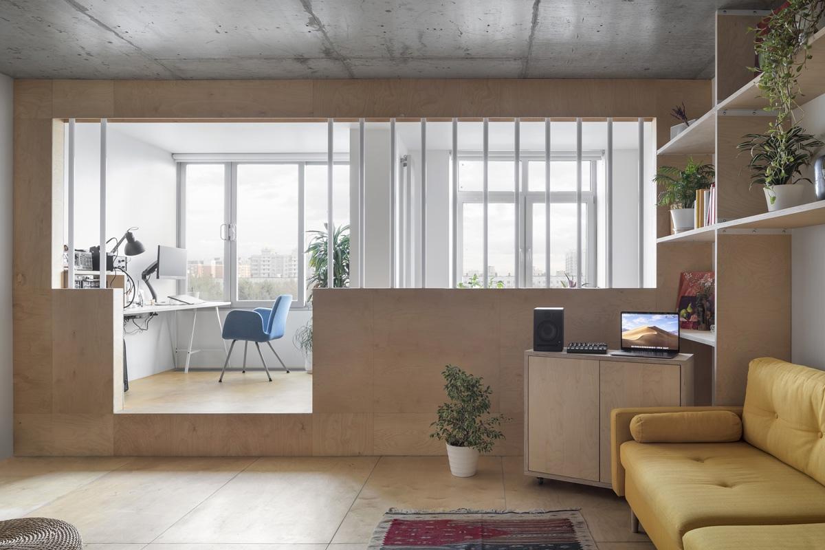 Интерьер квартиры-студии 51 кв.