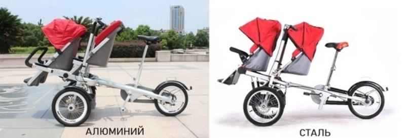 Почему мы рекомендуем именно АЛЮМИНИЕВЫЕ двухместные велоколяски?, изображение №3
