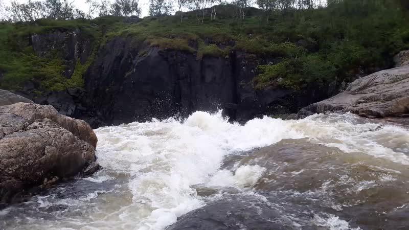 Нижний каскад водопада на Титовке