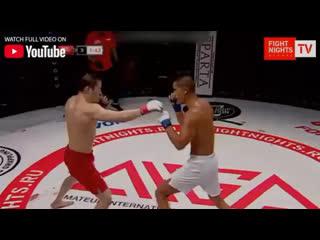Жалгас Жумагулов - чемпион FIGHT NIGHTS GLOBAL в наилегчайшем весе.