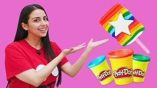 Hacemos helado de plastilina Play Doh. Vídeo educativo para niños pequeños