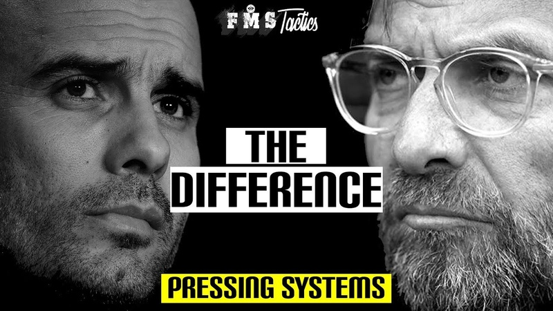 The Difference Between Klopp Guardiola's Pressing Systems Gegenpressing vs the 6 second rule