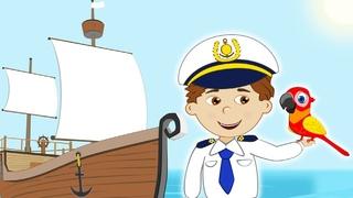Детская Песня про КОРАБЛИК - Мультик для Детей про Море и Морские Путешествия с Поиском Сокровищ.