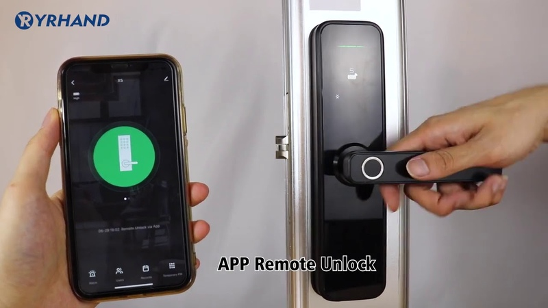 Дверной биометрический смарт замок с Wi Fi