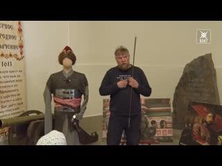 Экспозиция с пушкой в храме. Такой музей воспитанники приюта видели в первый раз!