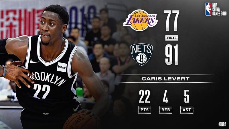 Caris LeVert 22-Points Highlights (Lakers vs Nets Oct 12, 2019 Pre-Season)