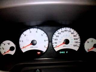 Тест панели приборов Dodge Stratus, 2003