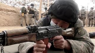 Ротные тактические учения прошли на полигоне в Актау