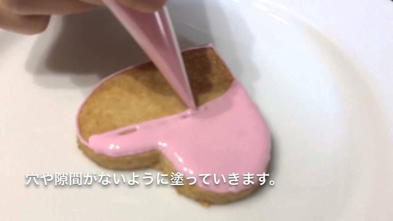 アイシングクッキーの作り方全部見せます⑤アイシングで輪郭を描き面
