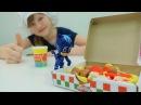 🍕 КЭТБОЙ помогает готовить Пиццу для Барби! Игры для девочек. пластилин ПЛЕЙ ДО