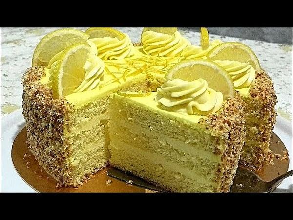 Авторский рецепт ЛИМОННЫЙ КРЕМ лимонный торт LEMON CREAM lemon cake