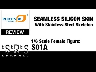 Phicen 1/6 Scale Female Seamless Stainless Steel Skeleton Body S01A