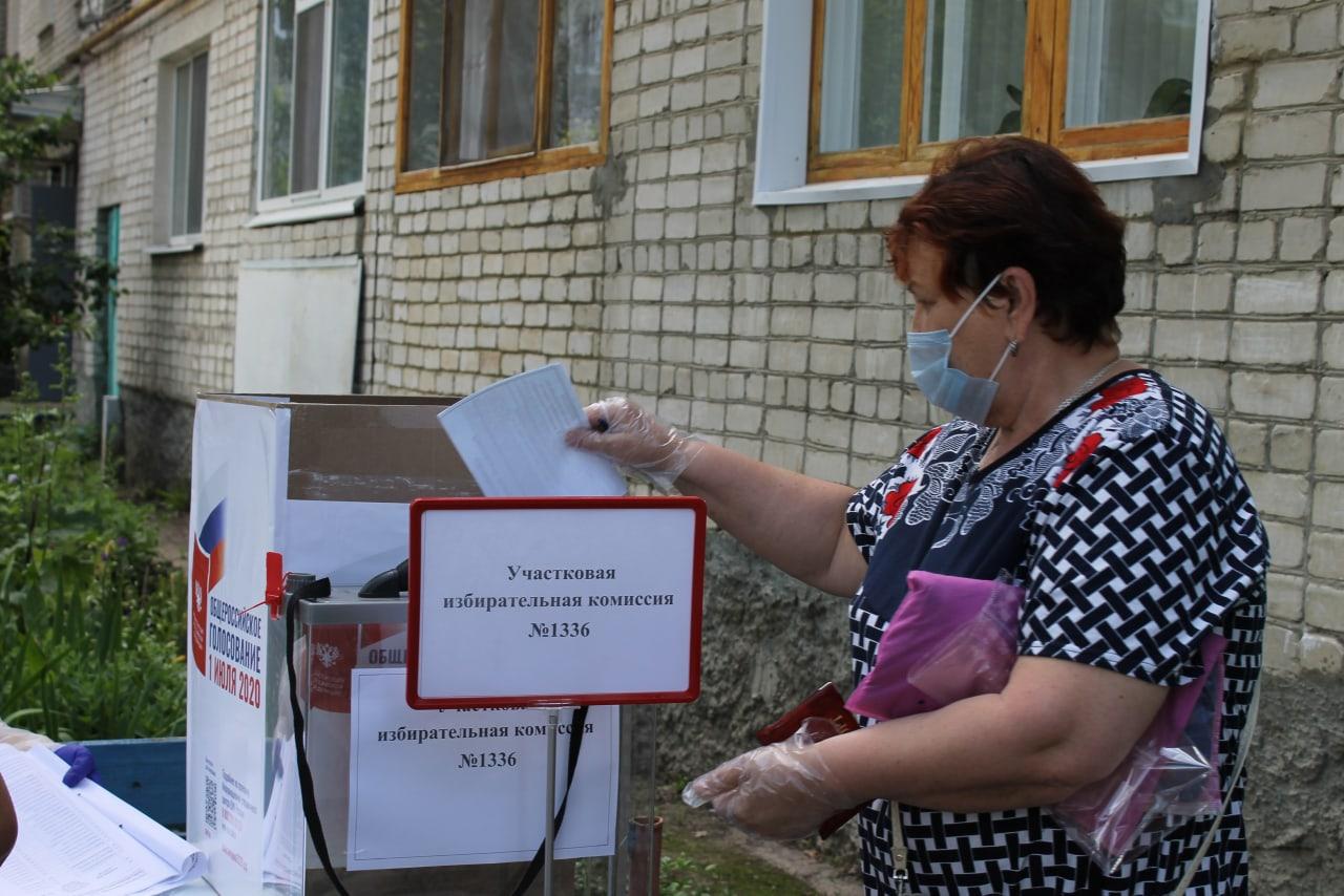 Петровчане продолжают участвовать в Общероссийском голосовании по вопросу внесения изменений в Основной закон страны