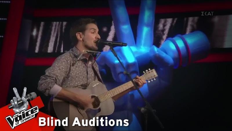 Κώστας Κεζέμπογλου - Blowin' in the Wind | 6o Blind Audition | The Voice of Greece