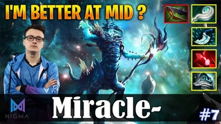 Miracle - Leshrac | I'M BETTER AT MID ? | Dota 2 Pro MMR Gameplay #7