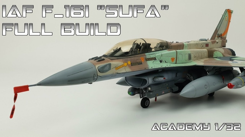 FULL BUILD Academy 1 32 IAF F 16 SUFA