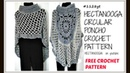 CROCHET A CIRCULAR PONCHO MANDALA CAPE ASYMMETRICAL SHAWL sweaters tops