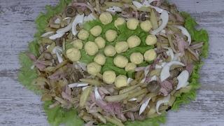 Салат глухариное гнездо. Из жареной картошки #Shorts
