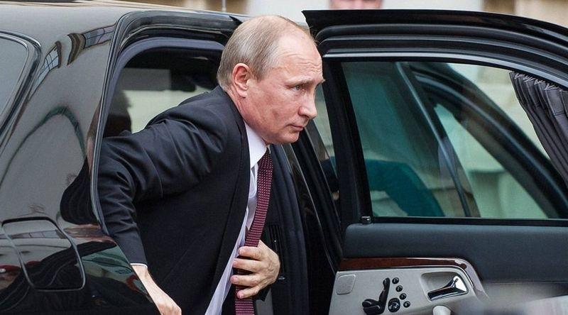 Появилось видео кортежа Путина