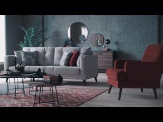3-местный диван с механизмом Rosa