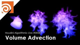 Houdini Algorithmic Live #058 - Volume Advection