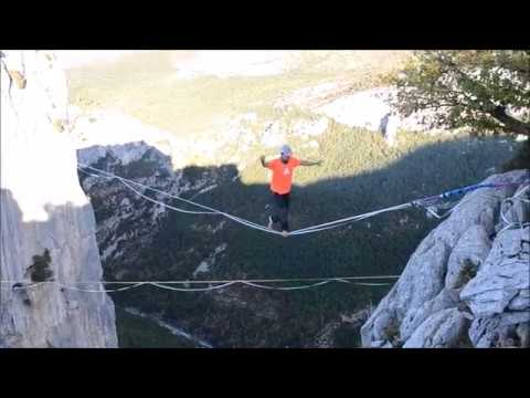New Free Solo Highline World Record by Friedi Kühne Extended Version