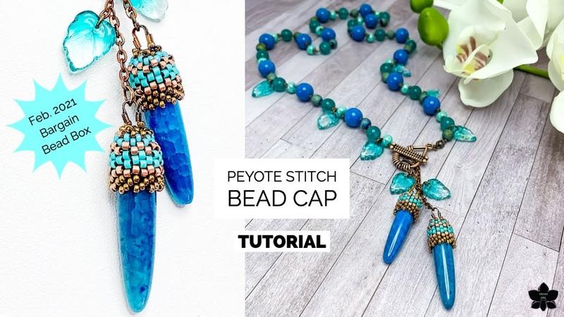 Peyote Stitch Beaded Bead Cap Beading Tutorial
