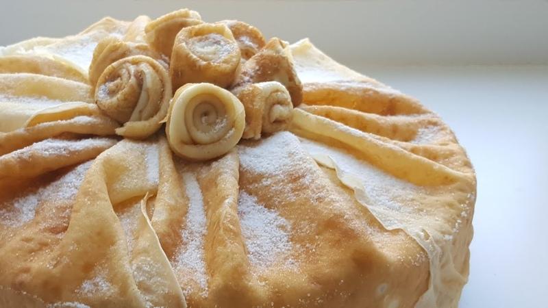 Блинный торт со сливочно творожным кремом💛 easy cake recipe