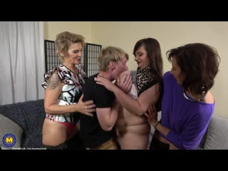 Stepson Welcome Home Party [HD 1080, 3 on 1, Big Tits, Blowjob, Cumshot, GILF, Group, Mature, MILF, Orgy, Sex]
