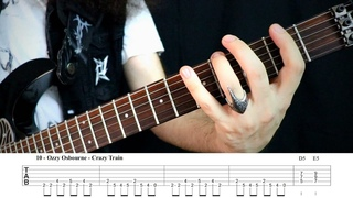 15 Easy & Cool Guitar Riffs You Should Know | With TABS