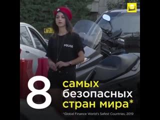 Топ-8 самых безопасных стран мира